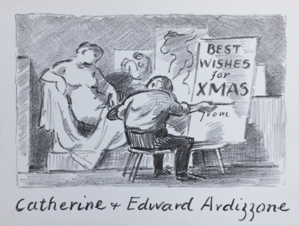 Christmas Card. 'THE LIFE CLASS. by Ardizzone, Edward. [1900-1979.]