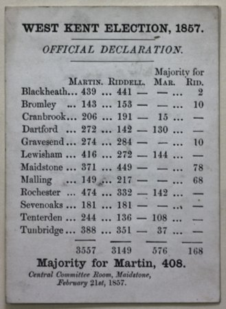 WEST KENT ELECTION, 1857.