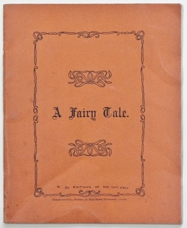 A FAIRY TALE written & illustrated by HB. by [BEGBIE, Hope.]