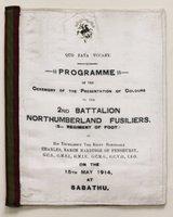 A commemorative silk programme. Quo Fata Vocant.