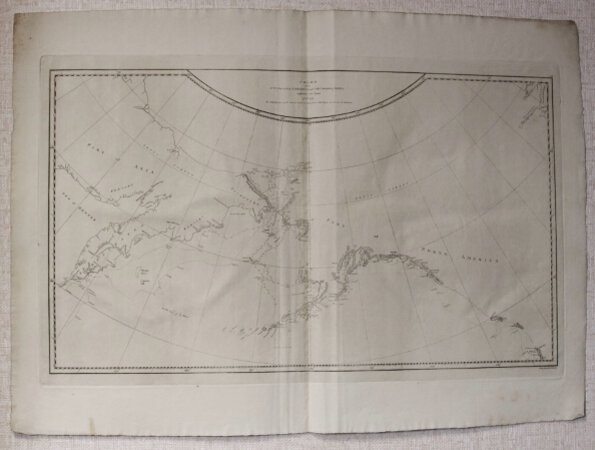 CHART of the N W COAST of AMERICA and N E COAST of ASIA explored in the Years 1778 & 1779. The ushaded parts of the Coast of Asia are taken from a M S Chart received from the Russians. Writing engraved by T. Harmer. [Copied by Lieut. Henry Roberts.]