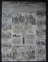 [Broadside.] LIFE IN LONDON: or, the sprees of Tom and Jerry; attempted in cuts and verse. Twenty-ninth edition. Price Twopence.