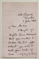 A four page letter. by [EWING, Juliana Horatio.]