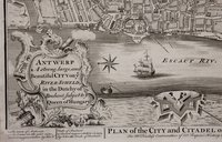 PLAN OF THE CITY AND CITADEL OF ANTWERP. For Mr. Tindal's Continuation of Mr. Rapin's History of England.