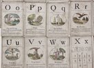 Another image of A set of 25 [of 26] 18th century alphabet cards. by (Wynne, John Huddlestone.)