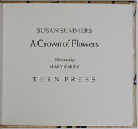 A CROWN OF FLOWERS. Illustrated by Mary Parry. by SUMMERS, Susan.