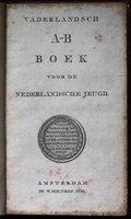 VADERLANDSH A-B BOEK voor de Nederlandsche Jeugd. by [SWILDENS, J. H.]