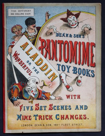 ALADDIN or The Wonderful Lamp.  Dean & Son's Pantomime Toy Books. With five Set Scenes and Nine Trick Changes.
