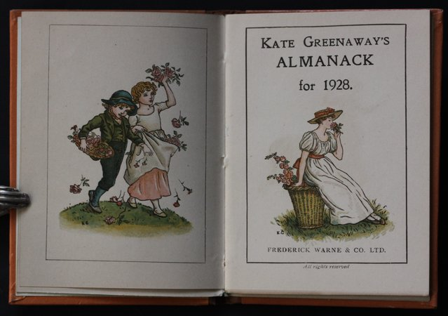 KATE GREENAWAY'S ALMANACK FOR 1928. by GREENAWAY, Kate.