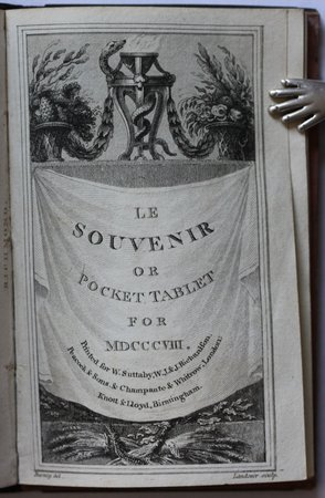LE SOUVENIR or Pocket Tablet For MDCCCVIII.