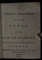 A BRIEF ACCOUNT OF ALL THE BOOKS OF THE OLD TESTAMENT.