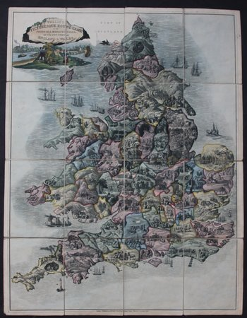 PICTURESQUE ROUND GAME OF THE PRODUCE AND MANUFACTURES OF THE COUNTIES OF ENGLAND AND WALES.