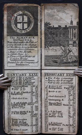 LONDON ALMANACK for the Year 1777.