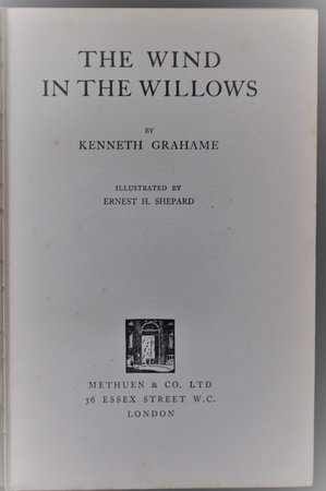 THE WIND IN THE WILLOWS. Illustrated by Ernest H. Shepard. by GRAHAME, Kenneth.