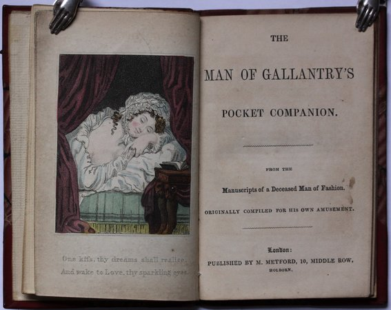 THE MAN OF GALLANTRY'S POCKET COMPANION.  From the Manuscripts of a Deceased Man of Fashion.  Originally compiled for his own amusement. by [Duncombe, John.]