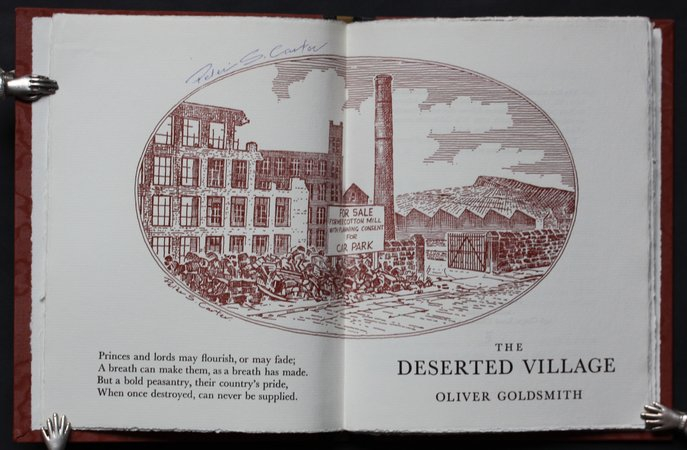 THE DESERTED VILLAGE. by GOLDSMITH, Oliver.