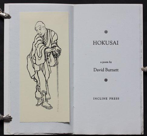 HOKUSAI A Poem. by BURNETT, David.