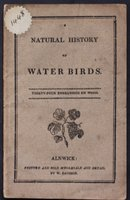 A NATURAL HISTORY OF WATER BIRDS. Thirty-four engravings on wood.