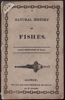 A NATURAL HISTORY OF FISHES. Forty engravings on wood.