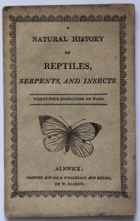 A NATURAL HISTORY OF REPTILES, SERPENTS AND INSECTS.. Thirty-Four engravings on wood.