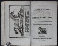 A NATURAL HISTORY OF BRITISH QUADRUPEDS.. Thirty-Two engravings on wood.