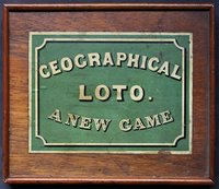 GEOGRAPHICAL LOTO. A new Round Game designed by John Jaques.