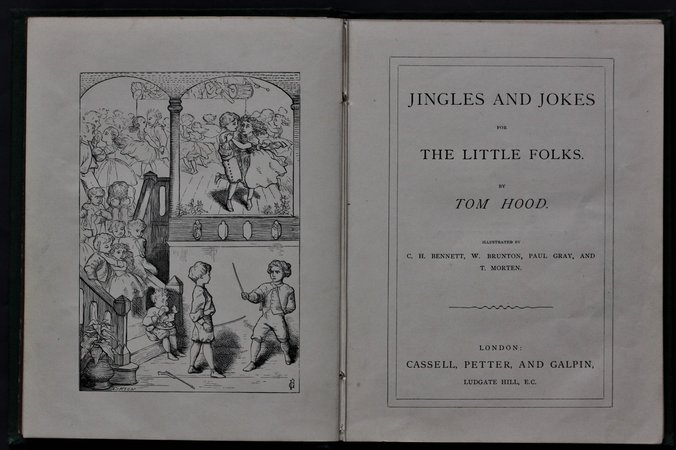 JINGLES AND JOKES FOR THE LITTLE FOLKS. by HOOD, Tom.