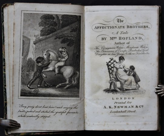 THE AFFECTIONATE BROTHERS. A Tale. By Mrs. Holland. New edition. by HOFLAND, Barbara.