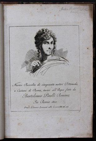 Nuova Raccolta di ciquanta motivi Pittoreschi a Costumi di Roma, incise all' Acqua forte de Bartolomeo Pinelli Romano. by PINELLI, Bartolomeo.