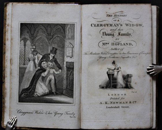 THE HISTORY OF A CLERGYMAN'S WIDOW, and her Young Family. By Mrs. Hofland. Seventh edition. by HOFLAND, Barbara.