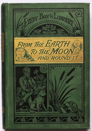 FROM THE EARTH TO THE MOON DIRECT and Round the Moon. Translated by T. H. Linklater. by VERNE, Jules.