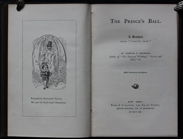 "THE PRINCE'S BALL. A Brochure. From ""Vanity Fair."" With illustrations by Stephens. by STEDMAN, Edmund."