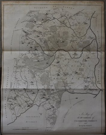 A Map of the Hundreds of Cranbrooke, Barkley, and Rolvenden. by Hasted, Edward.