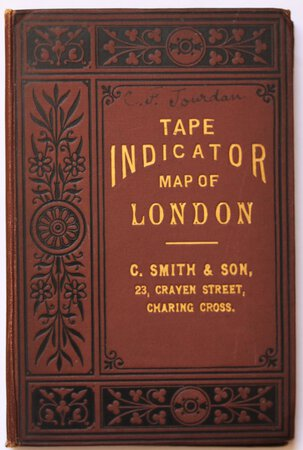 TAPE INDICATOR MAP OF LONDON.