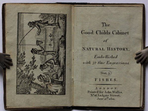 The Good Child's Cabinet of NATURAL HISTORY. Embellished with 32 fine Engravings. Vol. 3. FISHES.