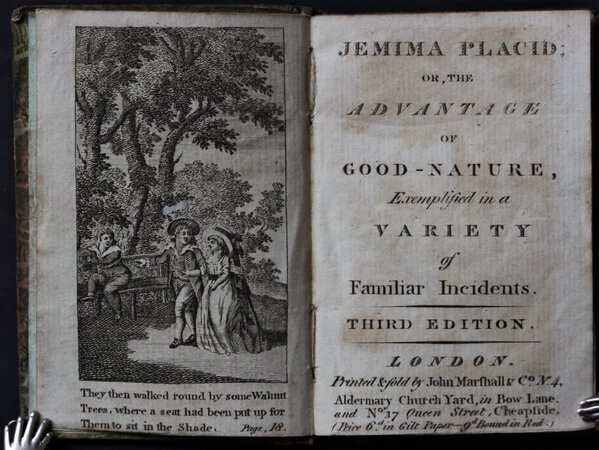 JEMIMA PLACID; or, the Advantage of Good-nature, Exemplified in a Variety of Familiar Incidents. Third edition. by (KILNER, Mary Ann.)