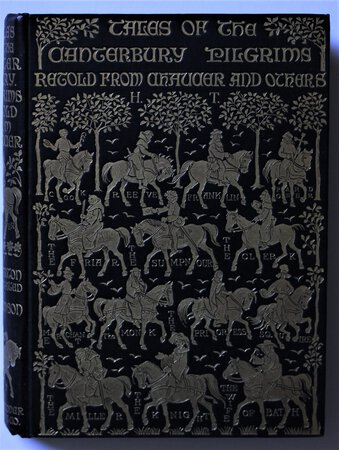TALES OF THE CANTERBURY PILGRIMS Retold from Chaucer & others by F. J. Harvey Darton. With introduction by F. J. Furnivall and Illustrations by Hugh Thomson. by CHAUCER, Geoffrey.