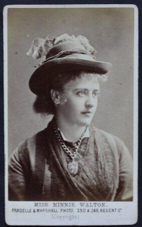 WALTON, Minnie (Mrs Frederick Lyster).