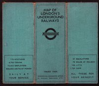 MAP OF LONDON'S UNDERGROUND RAILWAYS. Issued Free. Commercial Manager's Office. by STINGEMORE, F. H.