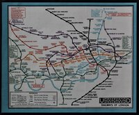 MAP OF LONDON'S UNDERGROUND RAILWAYS. Issued Free. Publicity Manager's Office. by STINGEMORE, F. H.
