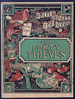 Walter Crane's Toy Books. New series. THE FORTY THIEVES. Price Sixpence; or Mounted on Linen, One Shilling. by [CRANE, Walter.]