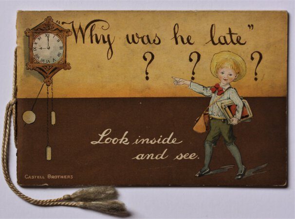 """WHY WAS HE LATE?"" by AINSLIE, Kathleen."