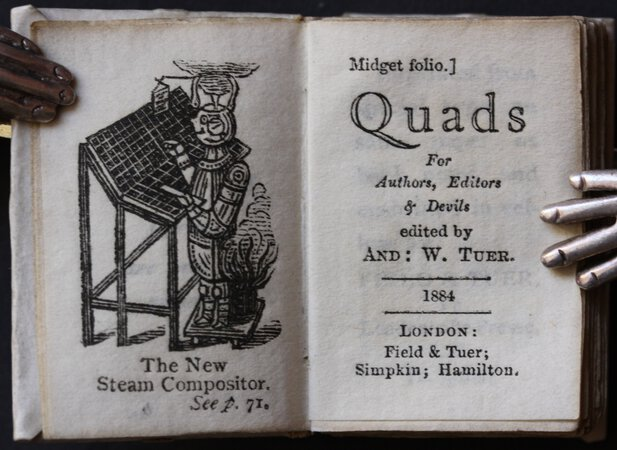 QUADS For Authors, Editors & Devils. Edited by And: W. Tuer. by TUER, Andrew.