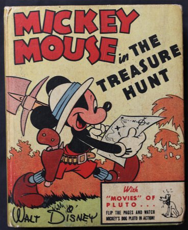 MICKEY MOUSE IN THE TREASURE HUNT. The Better Little Book 1401. by DISNEY, Walt.
