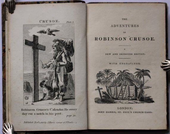 THE ADVENTURES OF ROBINSON CRUSOE. A new and improved edition. With engravings. by [DEFOE, Daniel.]