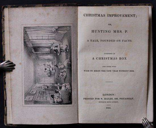 CHRISTMAS IMPROVEMENT: or, A Tale, Founded on Facts. Intended as a Christmas Box for those who wish to begin the New Year without her. by [Countess of Denbigh.].