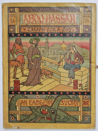 Marcus Ward's Japanese Picture Stories. ABOU HASSAN Caliph for a Day. Price 1/-. Mounted on linen 2/.