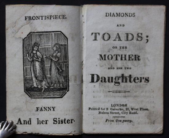 DIAMONDS AND TOADS; or the Mother and her two Daughters. by [PERRAULT, CHARLES.]