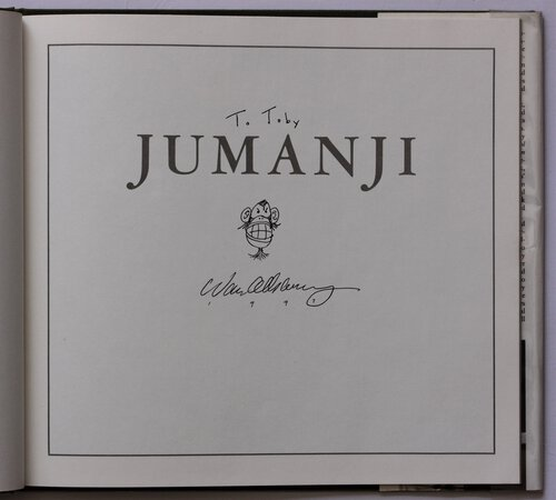JUMANJI. Written and Illustrated by Chris Van Allsburg. by ALLSBURG, Chris Van.
