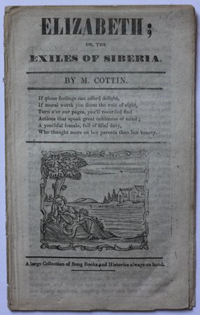 ELIZABETH; or, the Exiles of Siberia. by [COTTIN, Madam Sophie Ristaud.]